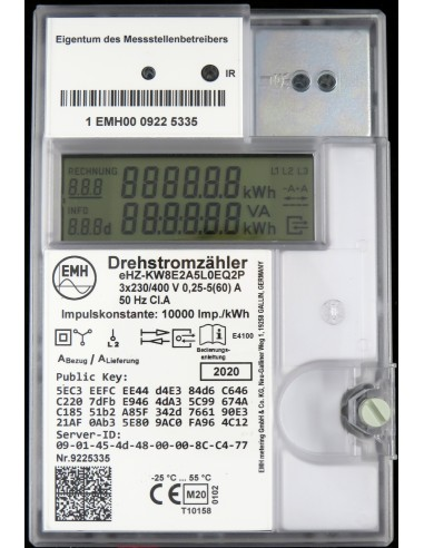 Zweirichtungszähler - EHZ-KW8E2A5L0EQ2P